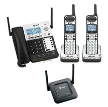 AT&T SB67138 4 Line 1 Corded 2 Cordless Business Phones w/Range Extender NEW - $567.85