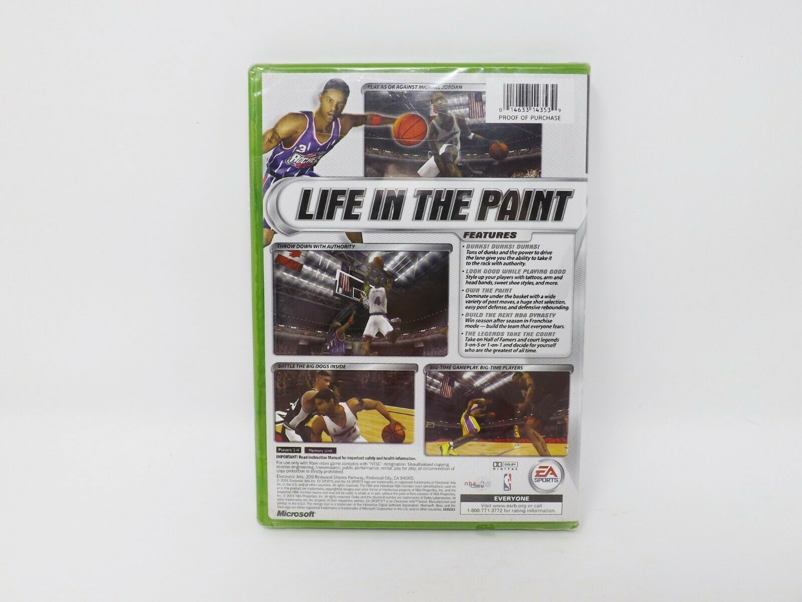Xbox EA Sports NBA Live 2002 Basketball Video Game - New