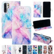 For Samsung A01 S20+ A51 A71 Note 10+ Patterned Magnetic Leather Wallet Cover - $49.55