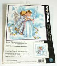 """Dimensions Angel Kisses 35134 Sandra Kick Half Cross Stitch Kit 12""""x12"""" VTG 2004 - $16.83"""