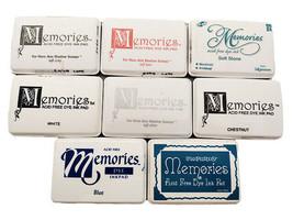 Memories Die Ink Pads, Used, 8 Pads