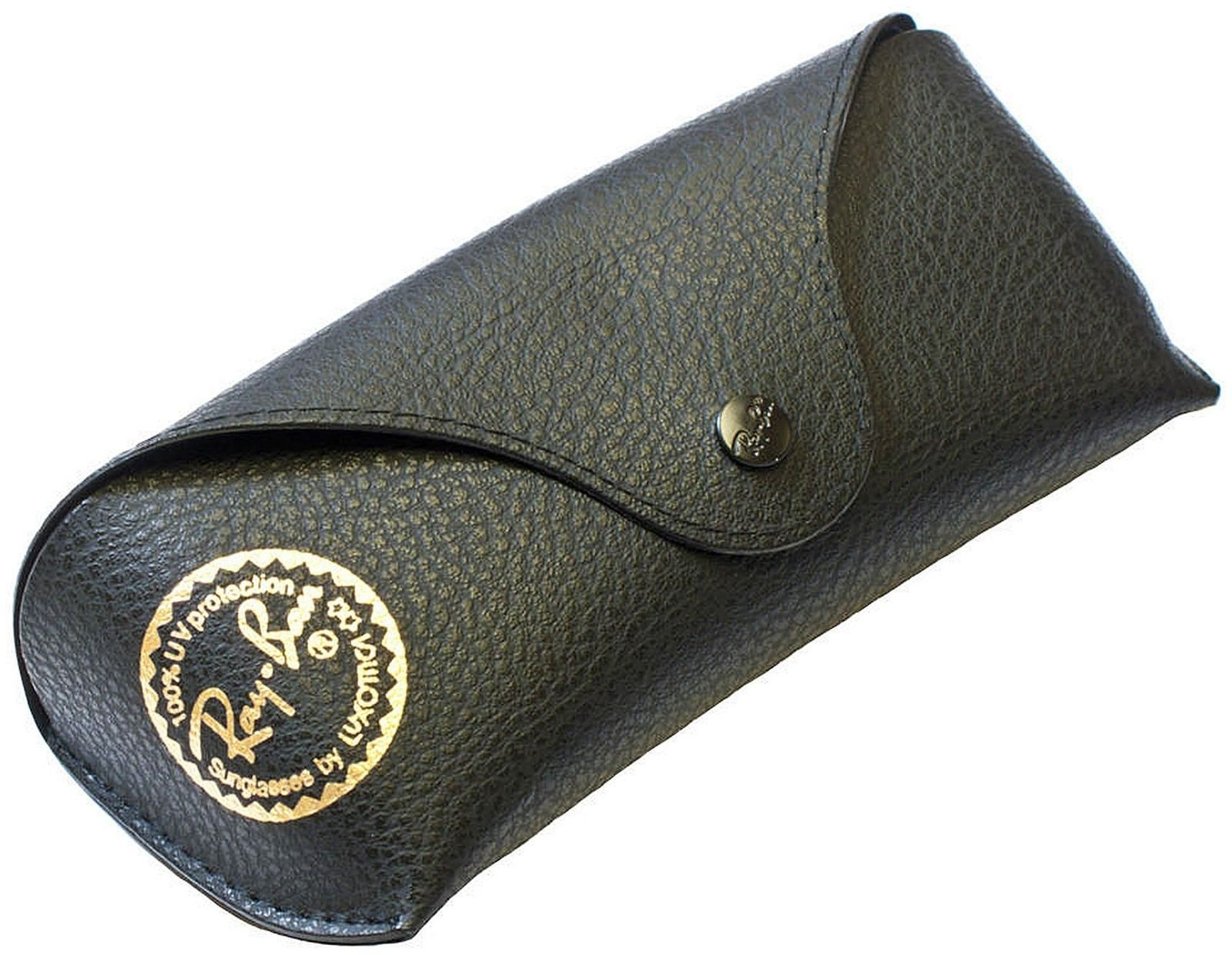 Primary image for New Ray-Ban Leather Case Black with Cleaning Cloth