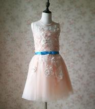 Blush Sleeveless Lace Tulle Flower Girl Dress Toddler Blush Princess Dress NWT image 1
