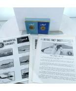 President Nixon Era Air Force One Pilot US Lot paperwork Cards Box Airpl... - $182.33