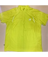 KARRIMOR Men's Xl Lime Green Bike Jersey Cycling Running Exercise Reflec... - $18.91