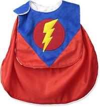 Mud Pie Baby Holiday Bib Boy, Super Hero, One Size, Cape Lightening - $14.65