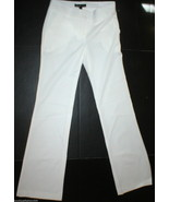 New Womens 2 Elizabeth and James Office Slacks Pants Tall White Trouser - $265.00