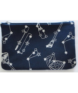 "IPSY Makeup Cosmetic Bag Blue with Silver Print ""Starlet"" November 2016 - $4.97"