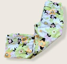 Talbot Womens Floral Linen Pants Sz 4 Lined Capri Summer Spring Pants - $14.95
