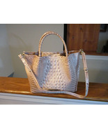 Authentic Brahmin Small Mallory Blossom Melbourne Embossed Leather Satch... - $247.49