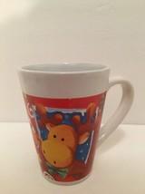 "Coffee Mug Moose Royal Norfolk Cocoa Cider Winter Christmas Party 4 1/2""... - $9.89"