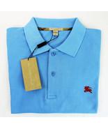 Burberry Brit Men's Short Sleeve Nova Check Placket Polo Shirt Blue XXXL... - $66.83