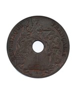 1938-A French Indochina 1 Cent Coin UNC Condition KM #12.1 - $26.25 CAD