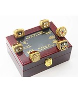 Pittsburgh 6 time 'Steelers Superbowl Champions Rings Set with Box Chris... - $142.99
