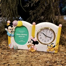 New SEIKO Disney Babies Mickey Minnie Pluto Nursery Room Clock Picture F... - $29.97