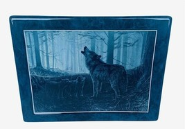 Bradford Exchange Collectors Plate Tile Wolf Figurine Moon Shadow Into the Night - $28.98
