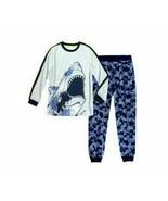 Wonder Nation Boys Sleepwear Shirt & Pants X-Small (4-5) Shark Glows In ... - $15.83