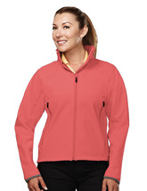 Tri-Mountain Ascent 6420 Poly Stretch Bonded Soft Shell Jacket - Coral/D... - $48.65+