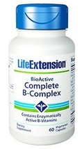 3 PACK Life Extension BioActive Complete B-Complex 3 month supply vitamin B - $25.84