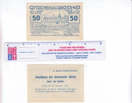 Austria 1920 50 Heller Gutschein Der GMD Dross Bank Note - $2.00