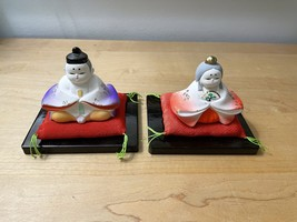 Pair of Vintage Hina Dolls from Japan image 2