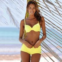 Womens Padded Bikini Set Boy Shorts Swimwear Bathing Suit Swimsuit Beachwear image 12