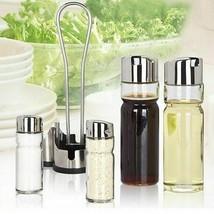 Stainless Steel Spice Jar Seasoning Tools Glass Bottle Vinegar Sauce Ing... - $38.69
