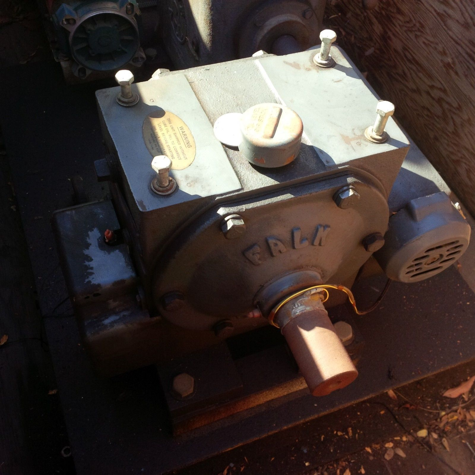 INDUSTRIAL GEARBOX RIG - RELIANCE MOTOR 1725 RPM - DRIVE ALL  - FALK INDUSTRIAL image 4