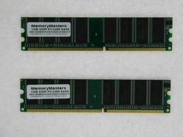 2GB (2X1GB) MEMORY 128X64 PC3200 400MHZ 2.5V NON ECC DDR 184 PIN DIMM