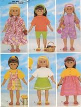 "18"" AG Magic Attic Goetz Doll Clothes Outfits Shorts Sandals Visor Sew P... - $13.99"