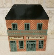 1987 Cats Meow Series V Dentist Physician Building Wood Shelf Sitter Red... - $7.75