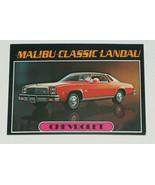 1976 Topps Autos of 1977 Chevrolet Malibu Classic Landau Car Card #16 VG... - $12.85
