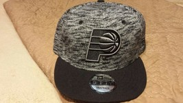 New Era 9FIFTY NBA Indiana Pacers Snapback Black/Gray Hat NWT - ₹1,634.97 INR