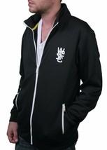 WeSC Mens Black White Rainer Zip Up Warm-Up Track Jacket NWT image 2