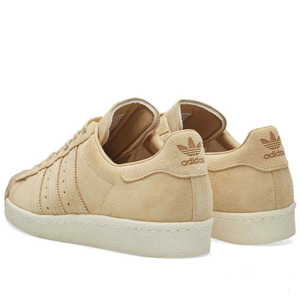 Adidas Originaux Superstar 80s Baskets Hommes Marron Baskets - BB2227 image 3