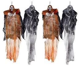 Hanging Halloween Decoration Realistic Floating Ghoul Ghost Skeleton Fac... - €34,32 EUR