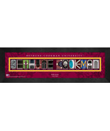 Personalized Bethune-Cookman University Campus Letter Art Framed Print - $39.95