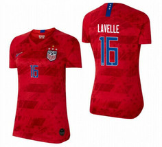 NIKE ROSE LAVELLE 16 USA 2019 WORLD CUP 4 STAR WOMEN'S RED WOMENS JERSEY... - $99.99