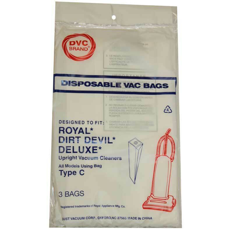 Primary image for DVC Royal Dirt Devil Type C Vacuum Cleaner Bags Made in USA [ 9 Bags ]