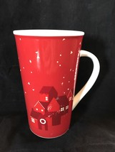 Starbucks Red Ceramic Coffee Mug With Houses And Snowflakes Collectible ... - $6.26