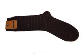Florsheim Men Cotton Socks Brown Dots Design Shoe Size 6-12.5 One Size Fits - $7.91