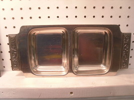 Divided Serving / Relish Tray 18/8 International Stainless Japan - $6.52