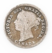 1885 Canada 10 Cents Silver Coin (VG) Victoria 10c Ten Canadian KM-3 - $64.35
