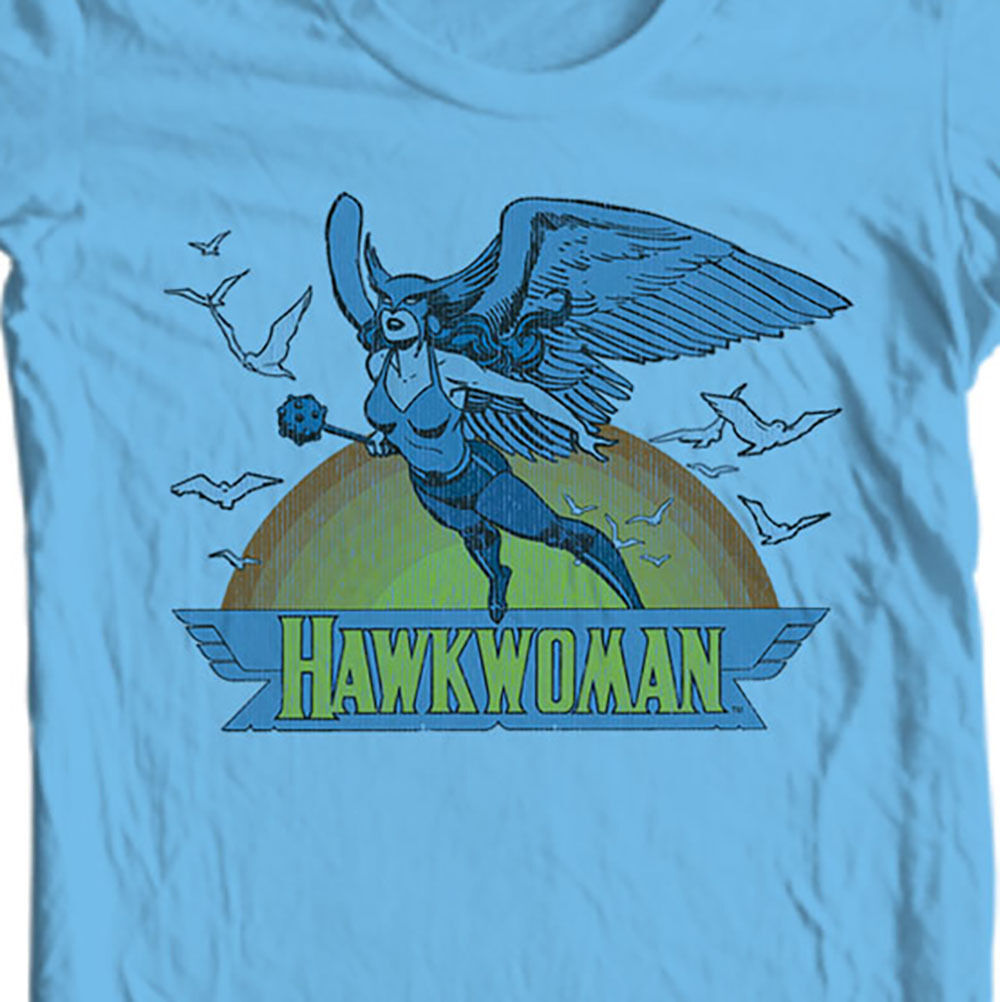 Hawkwoman T-shirt retro old cotton free shipping comic superhero DC DCO183