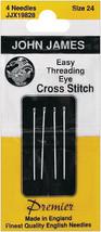 John James Easy Threading Calyxeye Hand Needles-Size 24 4/Pkg - $6.95