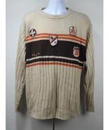 South Pole 21 Sweater Pullover Long Size XL Tan Brown Orange Men's Acrylioc - $26.50