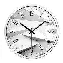 Modern & Personality Circular Clock Living Room Decorative Silent Round ... - £44.65 GBP