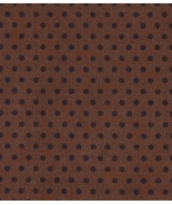 Per Half Yd, Kaufman, Dark Brown Dots on Chocolate Brown, Quilt Fabric, ... - $3.77