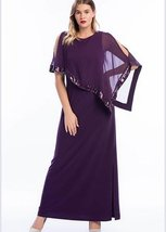 Scoop Neckline Lace Long Evening Dress - $51.93