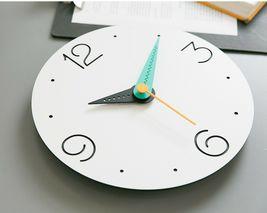 Moro Design Point Line Wall Clock non Ticking Silent Modern Clock (Numeric Mint) image 3
